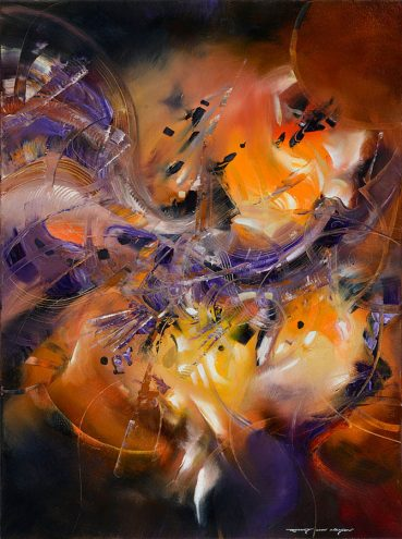 Whimsical Feeling abstract painting