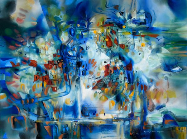 Blue Concerto abstract painting