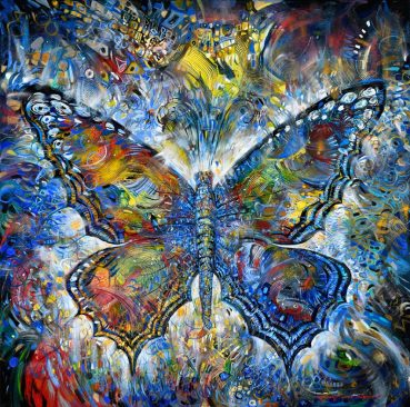 Empress butterfly original painting