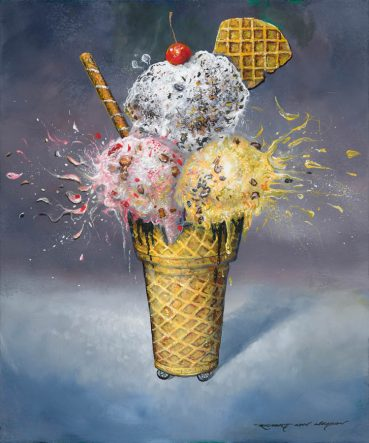 Eye Scream II ice cream still life painting