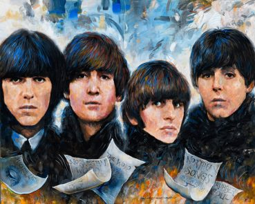Four Beatles original painting