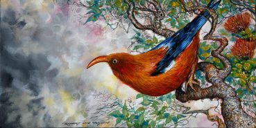 Hawaiian Honey Creeper original painting