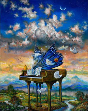 Matamorphic Grand Piano surreal painting