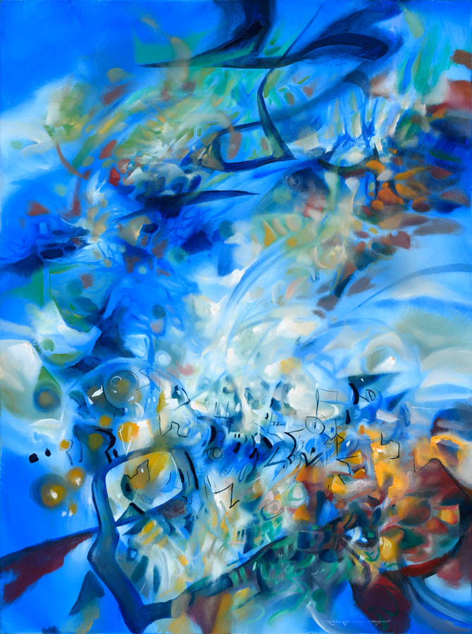 Solo Concerto in Blue abstract painting