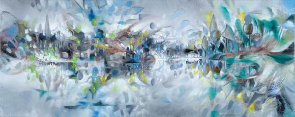Versailles Gardens abstract painting