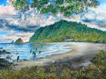Hana Bay Morning original painting