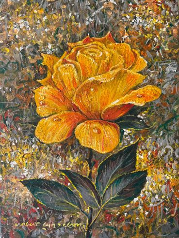 Yellow Rose original painting